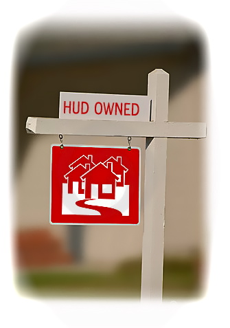 HUD Owned sign