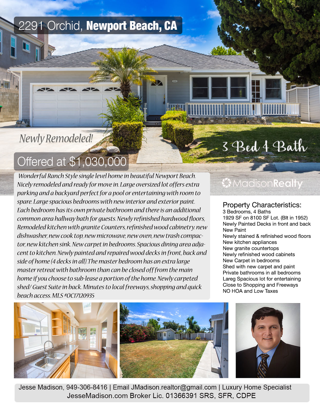 Newport Beach single level home