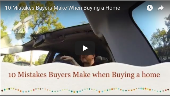 10 Mistakes Homebuyers make when buying a home